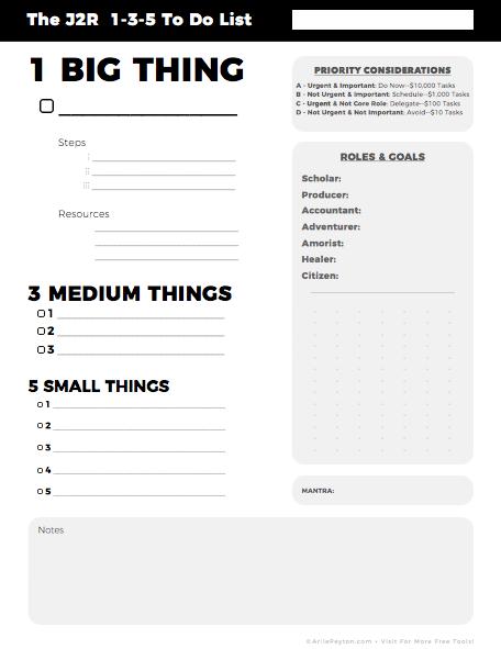 1-3-5 planner image